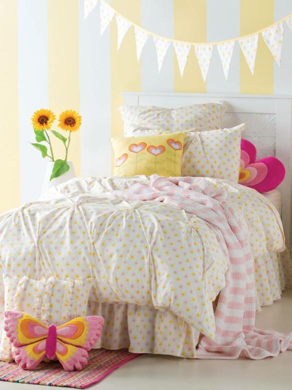kinderbettwäsche mädchenzimmer dekorieren wohnideen