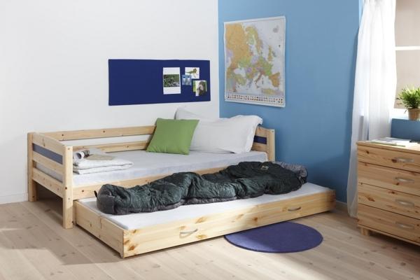 kinderzimmer einrichten jungen doppelbett holz