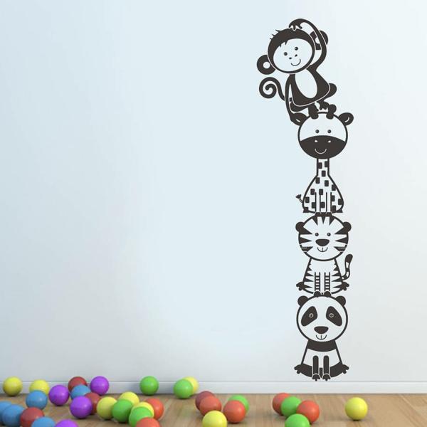 kinderzimmer wände gestalten lustig wandsticker