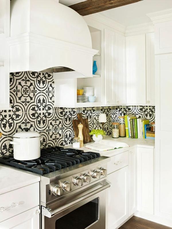 kleine küche einrichten einrichtungstipps küchenrückwand fliesenspiegel küche