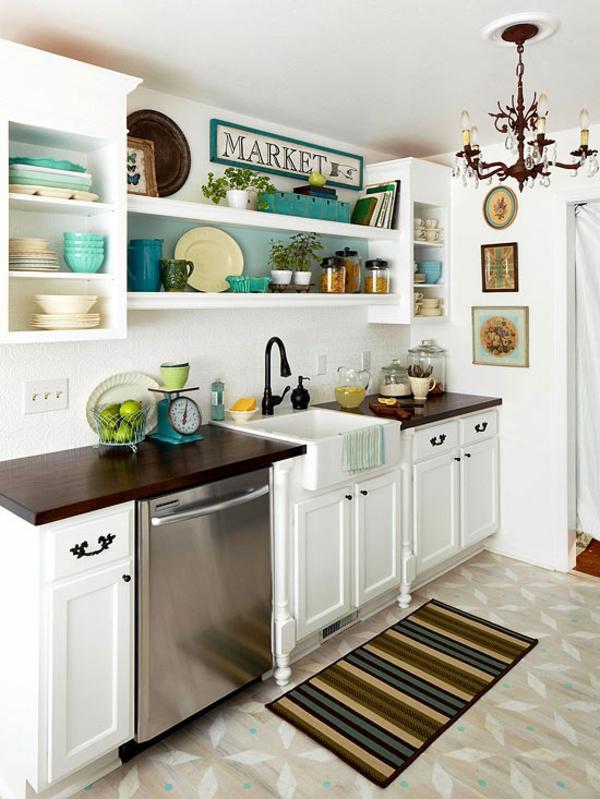 kleine küche einrichten einrichtungstipps schicke farbakzente
