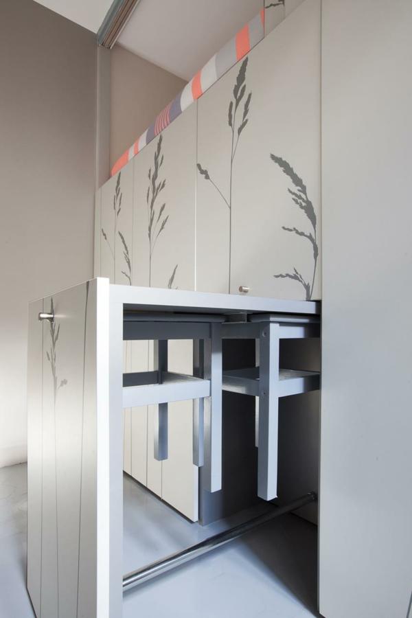 kleine wohnung einrichten eingebaute kücheninsel