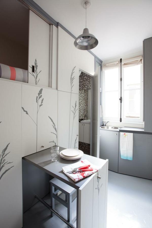 kleines apartment einrichten küche essbereich