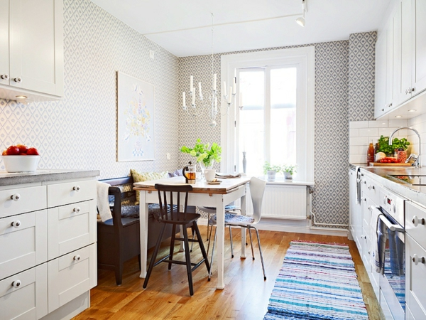 Kleine Wohnungen Einrichten Küche Esszimmer Kombinieren