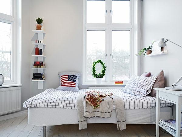 kleines schlafzimmer gestalten frisches design