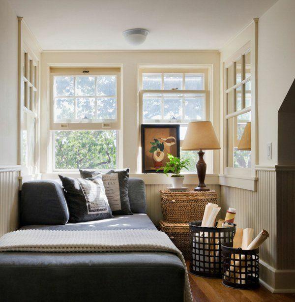 kleines schlafzimmmer gesalten helle wandfarbe