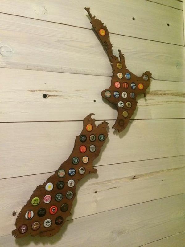 kreatives basteln landkarte holz neu seeland