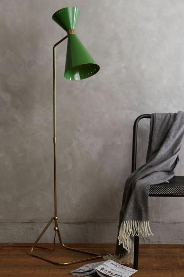 lampenschirm stehlampe grün frisch