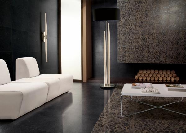lampenschirm stehlampe schwarz elegant ausgefallenes design