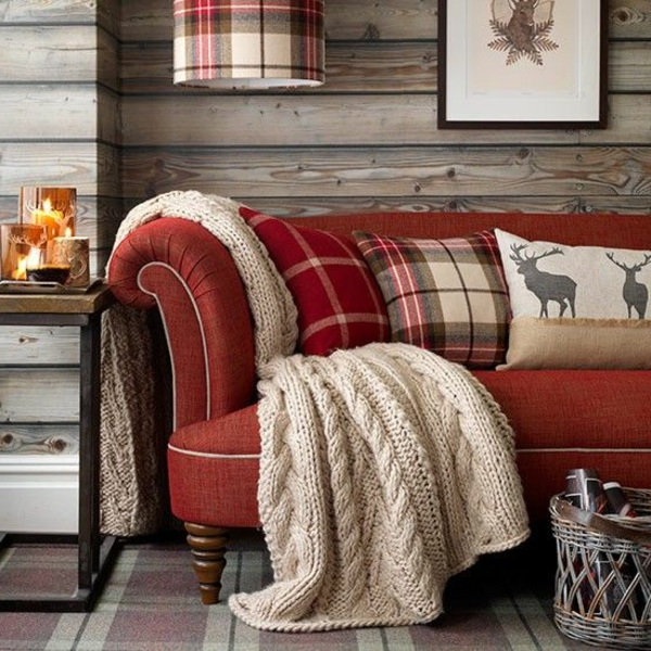 landhaus sofas farbig gemütliches wohnzimmer