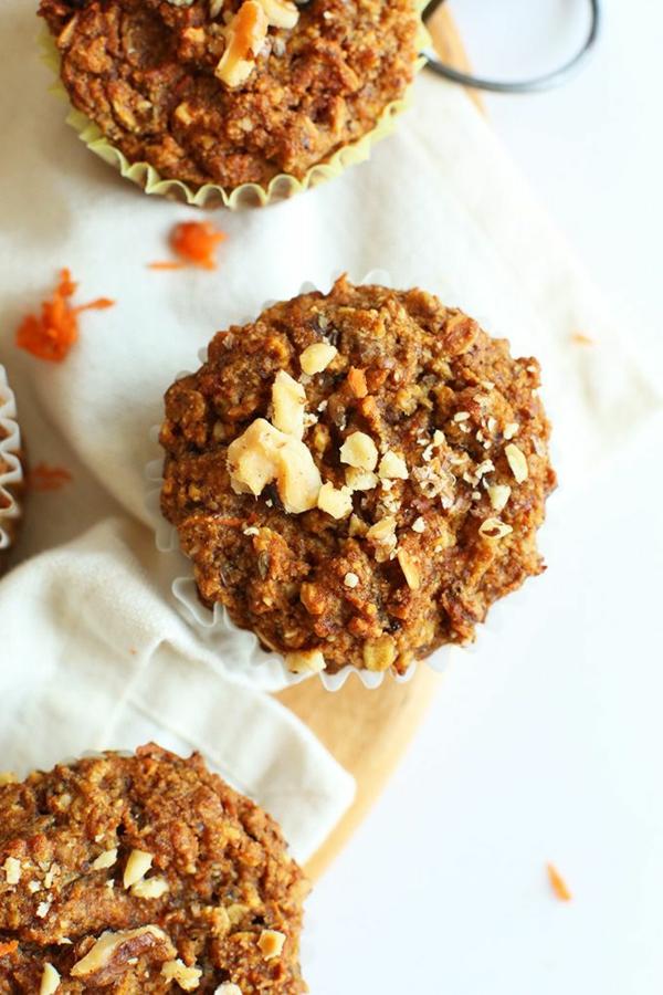 leckeres gesundes essen süßigkeiten vegan törtchen möhren apfel
