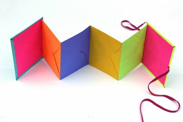 leporello basteln diy projekte basteln mit papier farbige umschläge