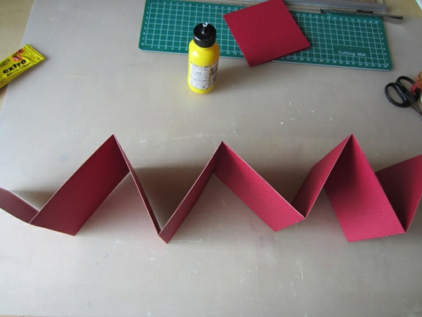 leporello basteln diy projekte farbpapier basteln mit papier
