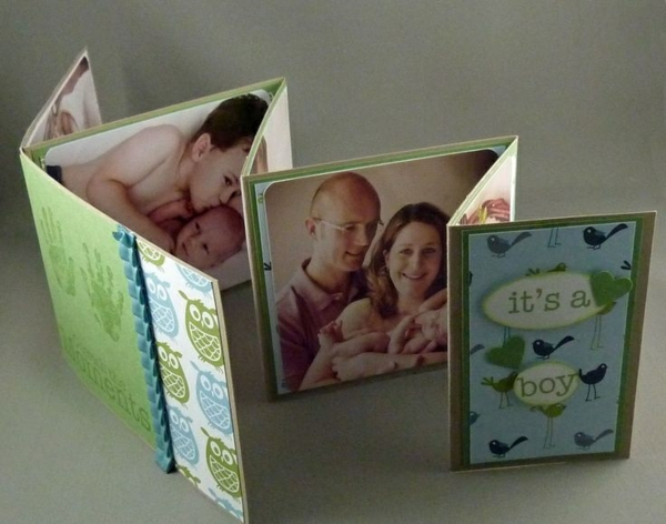 leporello selber machen diy projekte fotoalbum babybilder