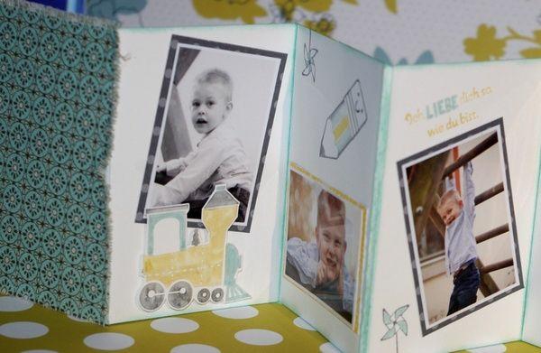 Leporello basteln einfache bastelideen mit papier - Fotoalbum selbst gestalten ideen ...