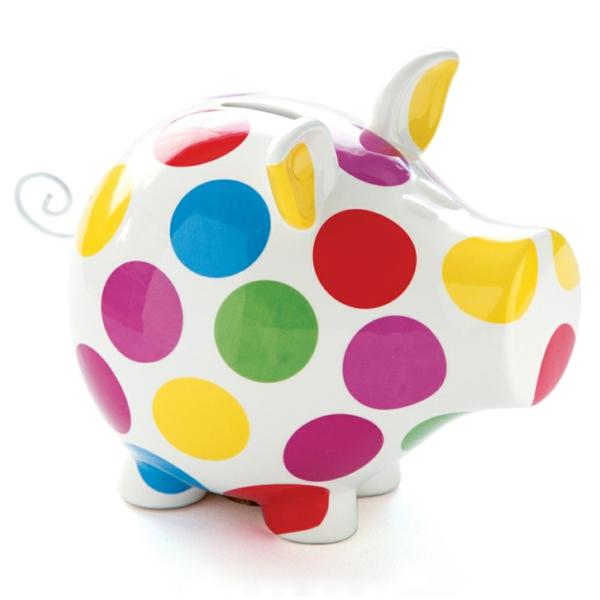 lustige spardosen farbiges schwein design