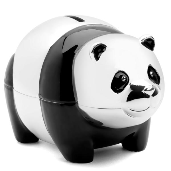 lustige spardosen panda design