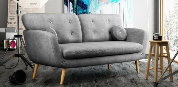 möbel retro ausgefallenes sofa vintage hellgrau