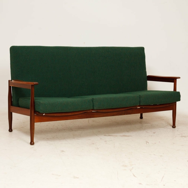 möbel retro stil grünes sofa einrichtungsideen