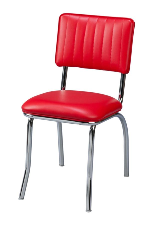 möbel retro stil roter stuhl