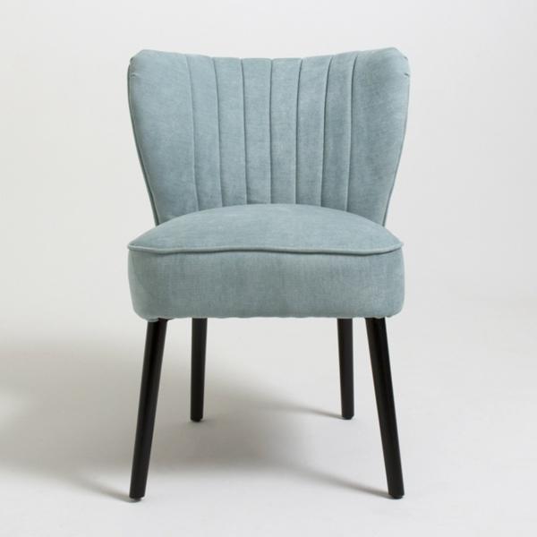 möbel retro vintage stuhl design hellblau