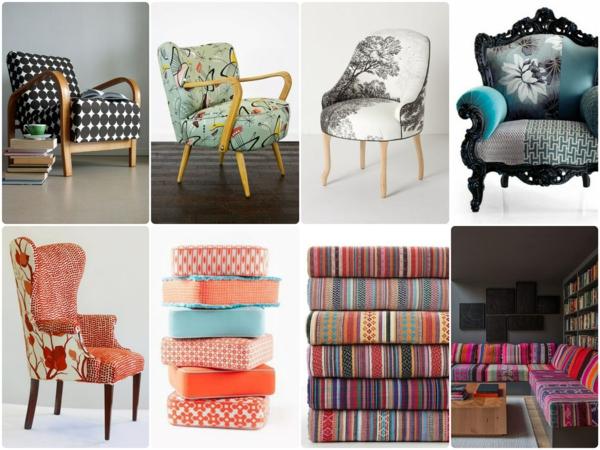 Neue möbelstoffe für alte polstersessel   dessins, farben, qualität