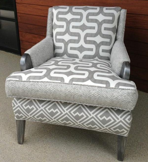 möbelstoffe stoffmuster grau polstersesel alte möbel restaurieren