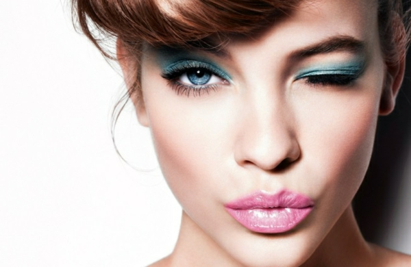 make up tipps trends grüne lidschatten natürliche lippen