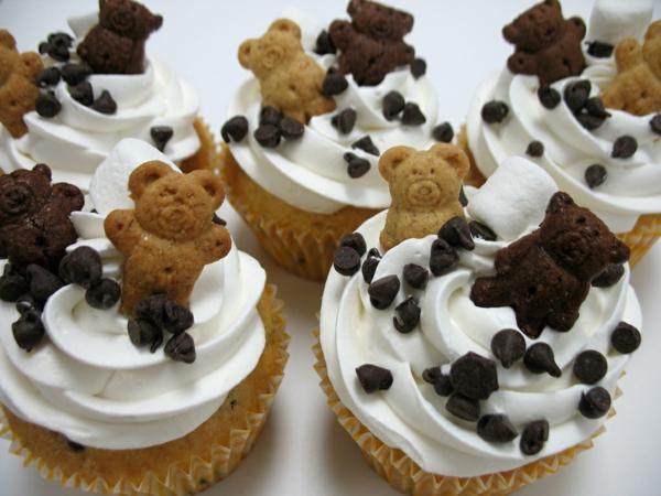 mini kuchen teddys shokolade dekorieren