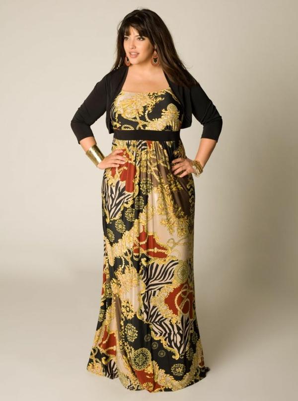 mode für mollige junge damen schönes langes kleid