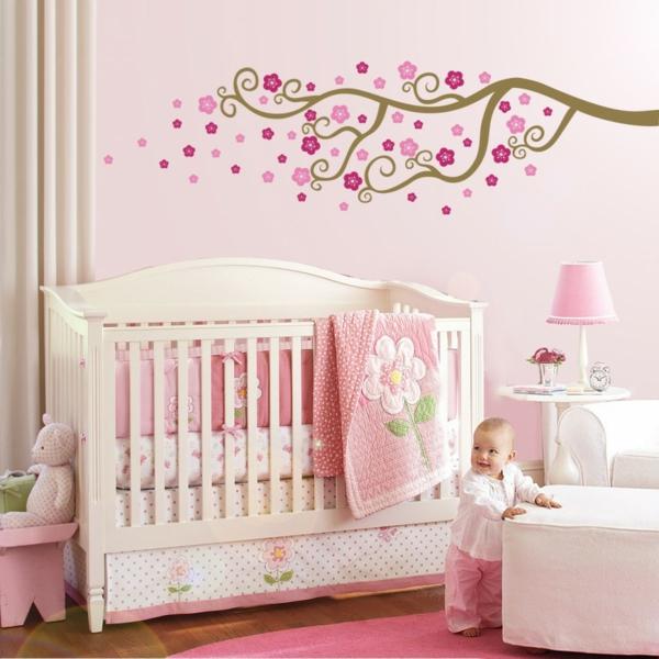 Moderne Wandfarben Babyzimmer Pastellpink