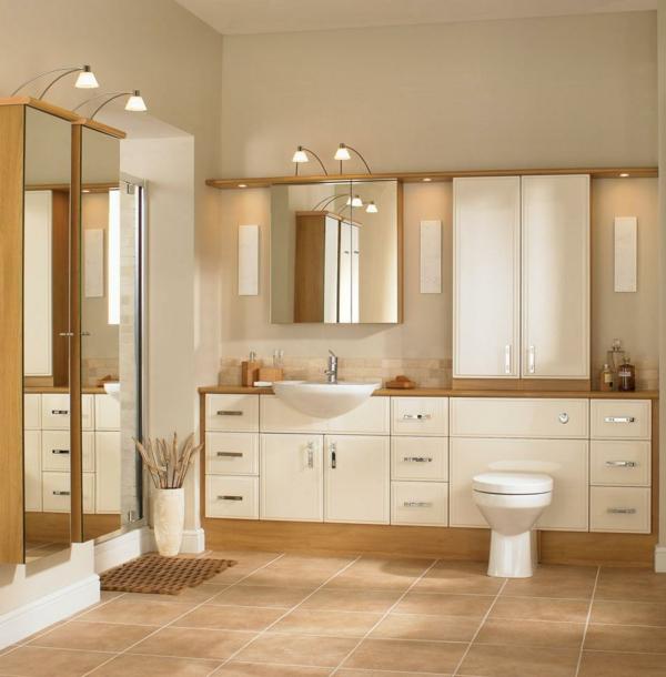 Moderne Wandfarben Badezimmer Beige