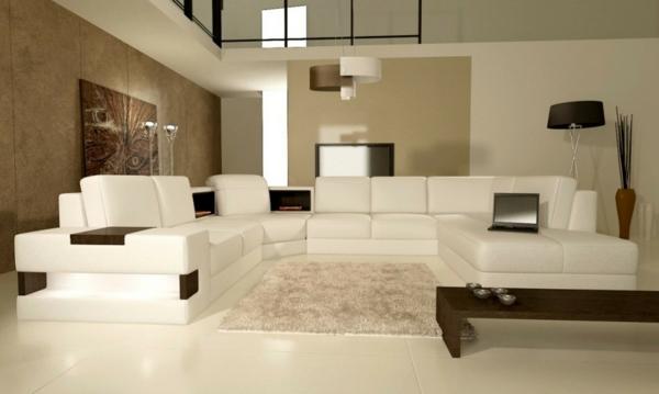 modernes wohnzimmer hellbraun holzboden mit teppich beige und, Wohnzimmer