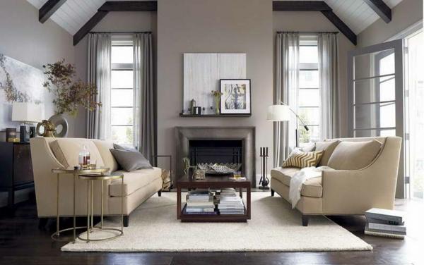 moderne wandfarben hellgrau beige möbel
