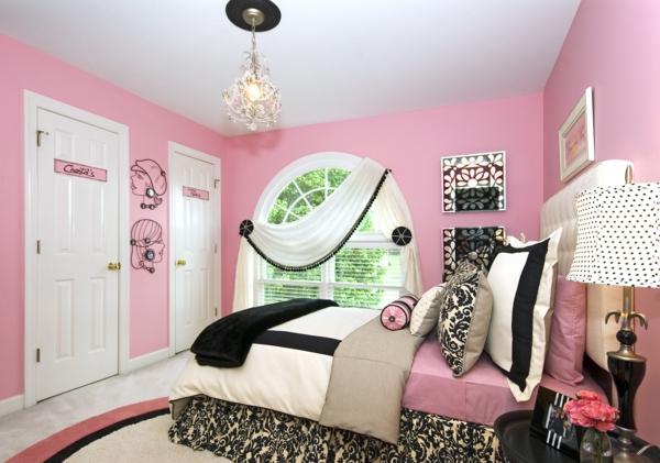 moderne wandfarben pastellrosa schlafzimmer