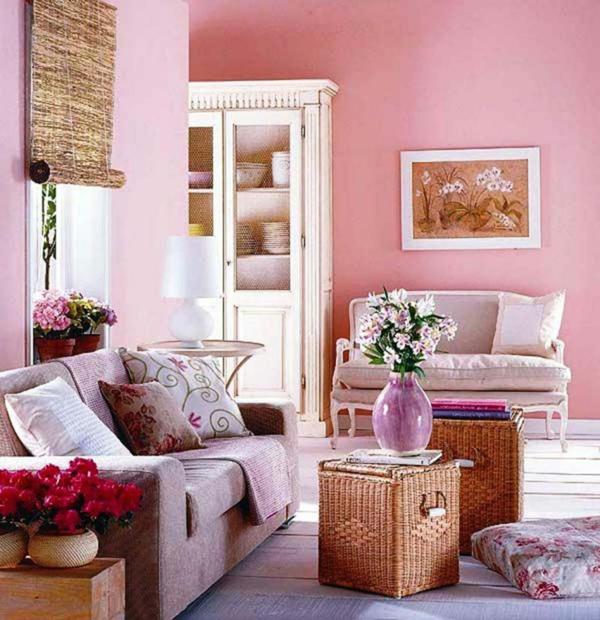 wandfarben 2015 wohnzimmer ~ moderne inspiration innenarchitektur ... - Rosa Wandfarbe Wohnzimmer