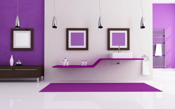 neue wandfarben violett badezimmer