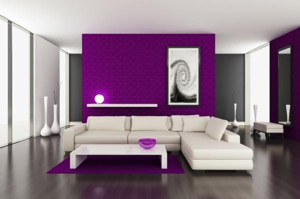 moderne wandfarben violett dunkelgrau