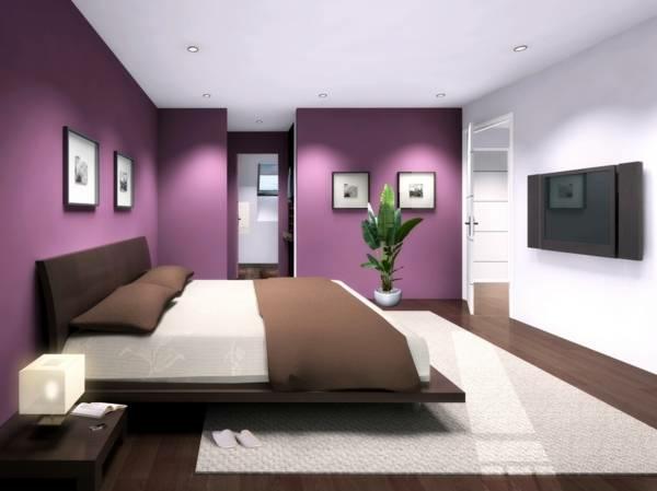 Neue Wandfarben Violett Schlafzimmer Moderne Wandfarben ...