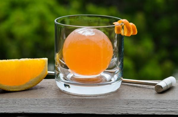 molekulare küche orangen saft kugel