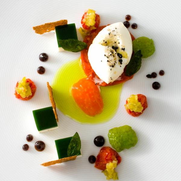 molekulare küche tomate garnele fenchel safran