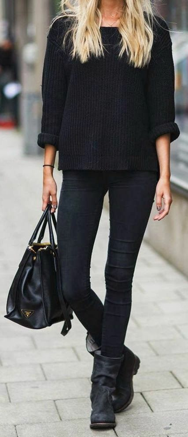 neue modetrends  dunkle farben schwarz styling tipps