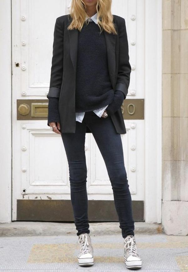 neue modetrends  dunkle schwarz styling tipps