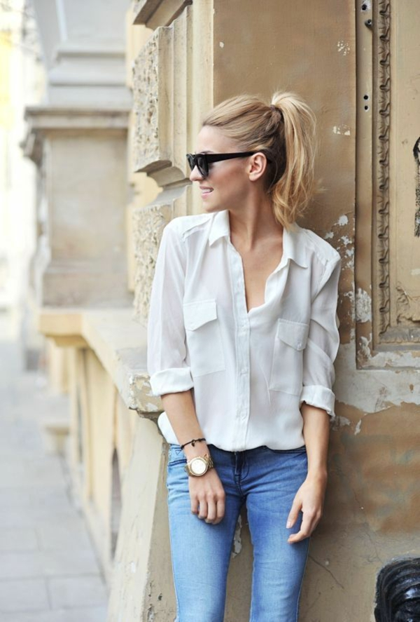 neue modetrends styling tipps jeans hemd