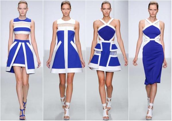 neue modetrends styling tipps muster farben blau weiß