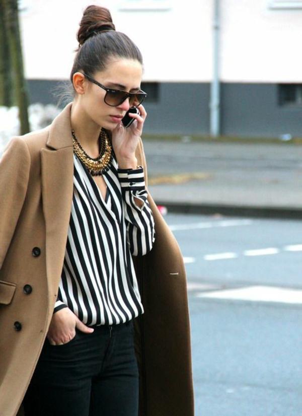 neue modetrends vertikale streifen schwarz weiß hemd styling tipps