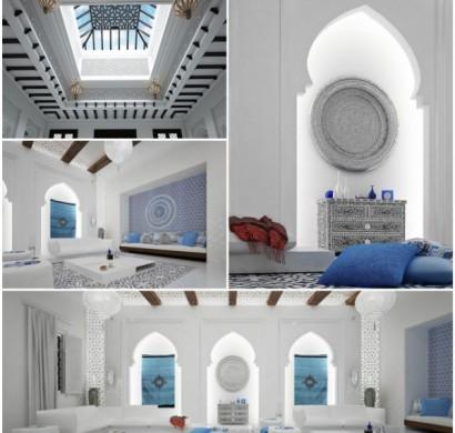 orientalische ornamente und skandinavischer stil in einer luxus villa. Black Bedroom Furniture Sets. Home Design Ideas