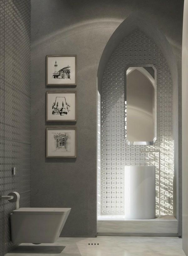 orientalische ornamente badezimmer mosaikfliesen