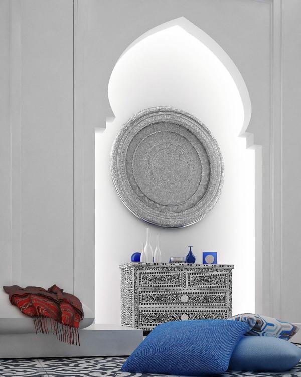 Orientalische Ornamente Und Skandinavischer Stil In Einer Luxus Villa