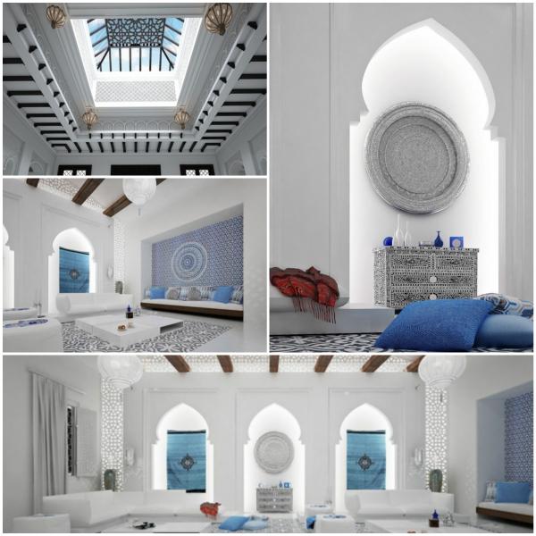 Orientalische Tapeten M?bel : Orientalische Ornamente und skandinavisches Interior Design in einer